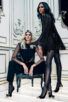 Olivier Rousteing added a touch of romance to his pre-fall collection for Balmain Balmain Pre-Fall 2015 [Courtesy Photo]
