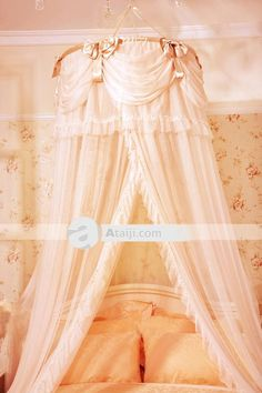 tulle canopy for girls bed | 103.35 Filles ronde volants suspendus lit baldaquin | Souris- & Jiggle and Giggle Bed Net With Frills Purple | Jiggle u0026 Giggle ...