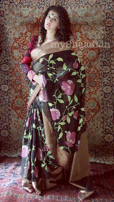 Gaurang Shah Indian Bridal Wear Designer Indian Bridal Wear, Indian Wear, Floral Print Sarees, Taapsee Pannu, Trendy Sarees, Lehenga Collection, Asian Fashion, Women's Fashion, Perfect Wedding Dress