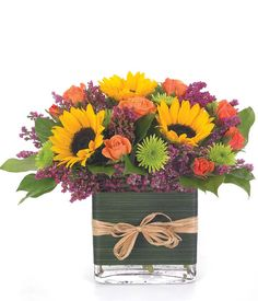 Orange Purple Blooms at From You Flowers Fall Flower Arrangements, Floral Centerpieces, Flower Vases, Flower Bouquets, Flowers For You, Summer Flowers, Spring Flowers, Flower Words, Same Day Flower Delivery