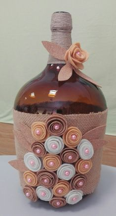 icu ~ Best 12 – Page 499829258641584557 – SkillOfKing. Wrapped Wine Bottles, Wine Bottle Vases, Empty Wine Bottles, Diy Bottle, Wine Bottle Crafts, Bottles And Jars, Perfume Bottles, Jute Crafts, Diy And Crafts