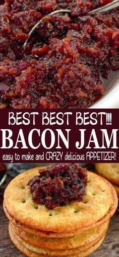 best recipes This Bacon Jam recipe is literally the best in the world. Regardless of what you use it for, topping burgers or simply adorning a cracker with it, your going to love it, ENJOY! Jelly Recipes, Bacon Recipes, Jam Recipes, Canning Recipes, Jalapeno Recipes, Burger Recipes, Recipes Using Bacon Jam, Carrot Recipes, Broccoli Recipes