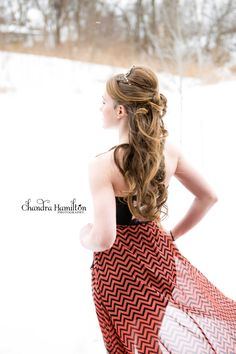 Hair style for a dance or wedding or a night out..... Half up and half down great for medium to long hair