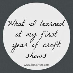 What I learned selling at craft shows
