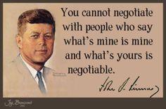 JFK...hmmmmm, sounds oddly like our current president