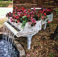piano garden waterfall
