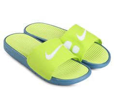 8ac969580e11 Benassi Solarsoft Slide Sandal collection in yellow by Nikewith Hyperfuse  construction and Solarsoft foam for maximum