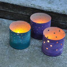 Upcycled Tin Can Luminaries
