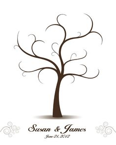 Fingerprint Tree Wedding Guestbook Alternative, Personalized Wedding Tree Guest Book Thumbprint Sign in Guest Book - Digital Print Template - Basteln - Wedding Tree Guest Book, Guest Book Tree, Wedding Guest List, Wedding Guest Book Alternatives, Tree Wedding, Diy Wedding, Guest Books, Wedding Book, Wedding Favors