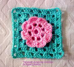 Tecendo Artes em Crochet: Florzinha e Square Fofos!