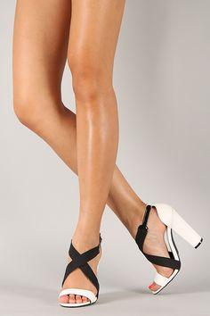 Qupid Immoral-05 Criss Cross Open Toe Sandal ($27.90)