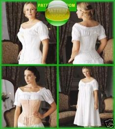 Simplicity 7215 Civil War Era Corsets & Undergarment Patterns