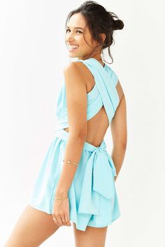 Reverse All-In-One Romper - Urban Outfitters
