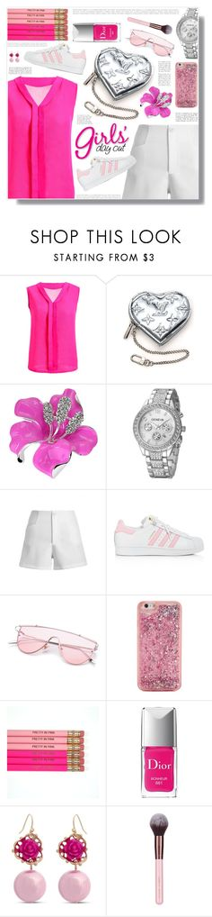 """""""Rosegal 48"""" by becky12 ❤ liked on Polyvore featuring Louis Vuitton, adidas, ban.do, Christian Dior, Erica Lyons, vintage, Spring, Elegant and rosegal"""