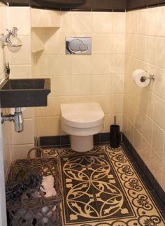 prachtige tegels voor op het toilet