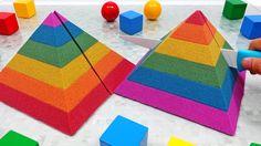 Rainbow Kinetic Sand Pyramid Cake Learn Colors for Kids Kinetic Sand, Learning Colors, Coloring For Kids, Asmr, Kids Rugs, Rainbow, Cake, Rain Bow, Autonomous Sensory Meridian Response