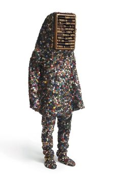 ❤️ Button and Abacus Suit. Nick's assemblages consist of scavenged objects, castoffs re-collected from flea markets and thrift shops and decorative odds & ends.