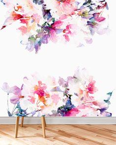 Tapeten - Die selbstklebende Fototapete - Frühlingsblumen - ein Designerstück von Homeprint bei DaWanda