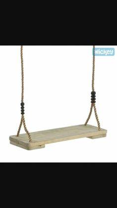 Columpio de madera