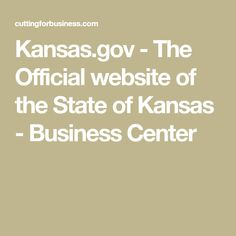 Kansas.gov - The Official website of the State of Kansas - Business Center
