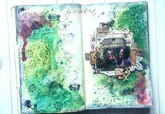 Garden art journal... Marcováart journalvýzva (týmto môj posledný chýbajúci vpis) na ArtGrupa ATC  je kvetnatá, nádherne voňavá, plná zelene.P ochádza od J...
