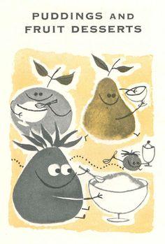 Vintage Cookbook illustrations