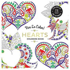 Buy Vive Le Color! Hearts Colouring Book Online at johnlewis.com
