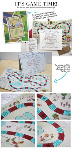 Cute board game invitation.  This guy actually proposed by making a special card and shuffling it into a deck in one of their games!