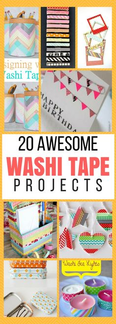20 amazing diy projects that you can do using washi tape. They're super PRETTY and some of them will make really nice gifts!