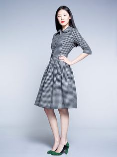 Black and White Tartan Dress by Mrs Pomeranz