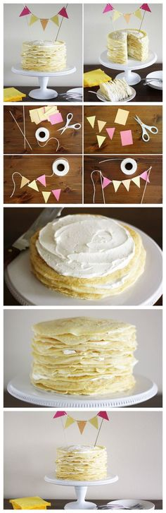 Make this delicious and easy-to-assemble crème brulee-flavored crepe cake for your next celebration!