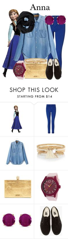 """""""Anna"""" by megan-vanwinkle ❤ liked on Polyvore featuring RoomMates Decor, Maison Scotch, River Island, Movado, BillyTheTree, Vans and Athleta"""