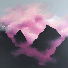 Dreamy Pink Clouds Paintings