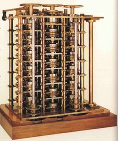 Charles Babbage difference engine | 1823: Charles Babbage begins work on Difference Engine Computer Technology, Computer Science, Science And Technology, Radios, Mechanical Computer, Alter Computer, Mechanical Calculator, Ada Lovelace, Old Computers
