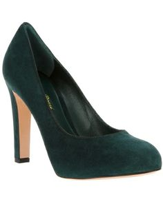 GIANVITO ROSSI Suede Court Shoe Pump