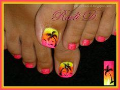 pin on nails Palm Tree Toe Nail Designs Gallery pin on nails Palm Tree Toe Nail Designs. Here is Palm Tree Toe Nail Designs Gallery for you. Palm Tree Toe Nail Designs palm tree toenail toe nail designs fancy na. Beach Toe Nails, Cute Toe Nails, Summer Toe Nails, Toe Nail Art, Pretty Nails, Neon Toe Nails, Beach Nail Art, Summer Beach Nails, Summer Pedicures