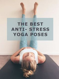 These six yoga poses for stress help you to relax! The first exercise is the Legs up the wall, one of my favorite poses for . Yoga Ashtanga, Yoga Vinyasa, Bikram Yoga, Kundalini Yoga, Pilates Training, Yoga Pilates, Yoga Routine, Workout Routines, Yoga Chaud