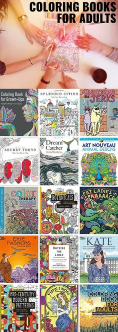75 coloring books perfect for adults! I love the architecture books especially, but the fantasy and fashion coloring books would be great for practicing shading. I usually use colored pencils or Staedtler pens.
