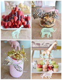 Vintage Pastel Wild Safari Birthday Party via Kara's Party Ideas | KarasPartyIdeas.com (22)