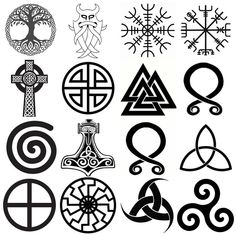 Top 10 Viking Symbols And Meanings Vikings used a number of ancient symbols based on Norse mythology. Symbols played a vital role in the Viking society and were used to represent their gods, beli Celtic Tattoo Meaning, Viking Tattoo Symbol, Love Symbol Tattoos, Norse Tattoo, Celtic Tattoos, Viking Tattoos, Symbolic Tattoos, Wiccan Tattoos, Inca Tattoo