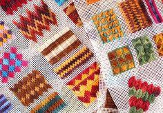 Puntos en rejilla para tapices, bolso o alfombras de trapillo | El blog de trapillo.com