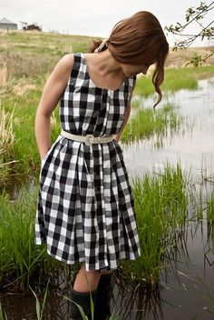 Gingham Button Down Dress by TeakaMarie on Etsy, $125.00