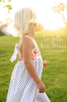 La Jolla bow dress sewing tutorial by CailaMade