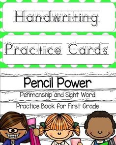 Handwriting reinforcement made easy for the first grade classroom! This bundle includes a handwriting practice book and handwriting practice cards to use in a center.Worksheets include individual lowercase letter practice as well as a list of first grade high frequency words to correspond with each letter.