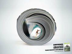 Amouage Surf Magazine Ad by Elias Fahir Clever Advertising, Print Advertising, Advertising Campaign, Marketing And Advertising, Viral Marketing, Guerrilla Marketing, Street Marketing, Cannes, Ad Design
