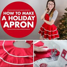 Easy DIY holiday apron for beginners!