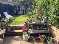 Roses and Rolltops : Planting Galvanised Tubs