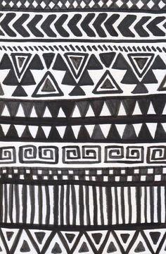 Fondo tribal en blanco y negro