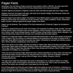 Pagan Facts