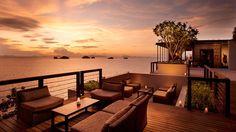 Conrad Koh Samui Resort and Spa, Thailand Hotel - Aura Lounge Ko Samui, Koh Phangan, Samui Thailand, Bangkok Thailand, Honeymoon Registry, Honeymoon Hotels, Romantic Honeymoon, Indoor Outdoor, Outdoor Decor